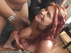 Hubby love watching her fat wife fuck with black