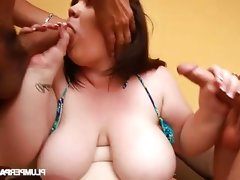Bbw slut holly jayde gets fucked by two dudes