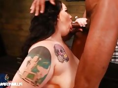 Bbw glory foxxx rides a big black cock