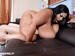 Black bbw with monster boobs gets fucked