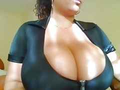 Sexy cam girl with blue top