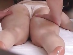 Horny japanese massaged