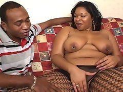 African chubby slut drilled by another african..
