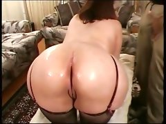 Vintage big butt chubby massage threesome with..