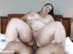 Busty bbw student fucks her driving instructor