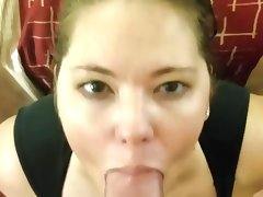 Amateur pov blowjob and facial