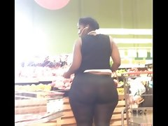 Huge donk bbw ebony in trash bag spandex