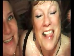 French mature anal bbw mom in interracial party..