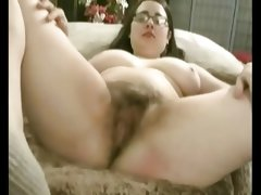 Hairy chubby ex girlfriend masturbating her..