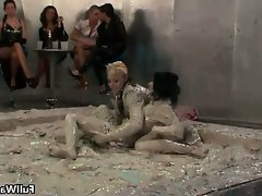 Mud loving euro babes covered