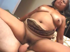 Slutty fat babe is riding on the hard dick