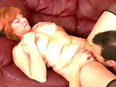 Chubby redhead calliste was fucked in her puss