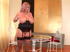 Big-titted blonde laura orsolya penetrates her..