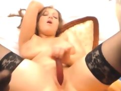 Bbw milf double squirt masturbation and anal