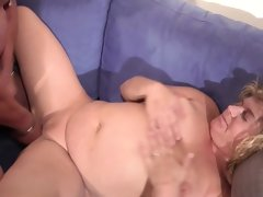 German bbw mother and dad in first time casting..
