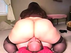 Big woman sitting on some guys face